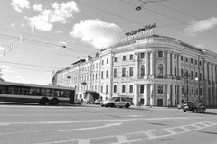 Street of St. Petersburg. View of this beautiful russian city Royalty Free Stock Photography