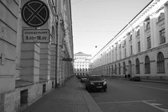 Street of St. Petersburg. View of this beautiful russian city Royalty Free Stock Photo