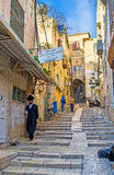 The street with the stairs Stock Photography