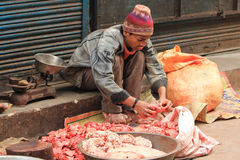 Street Stall Butcher Royalty Free Stock Photos