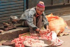 Street Stall Butcher Royalty Free Stock Photos
