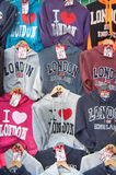 Street stall selling 'London' T-Shirt souvenirs Stock Image