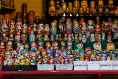 Street stalls with nesting dolls Stock Photography
