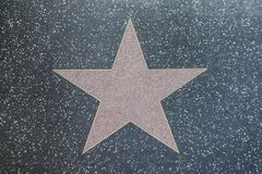 Street Star in Hollywood Boulevard stock images