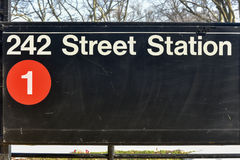 242 Street Station - NYC Subway Stock Photography