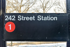 242 Street Station - NYC Subway Royalty Free Stock Image