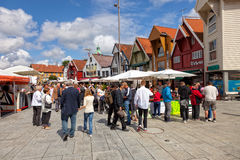 Street in Stavanger Royalty Free Stock Images