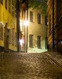 Street in Stockholm in the evening Stock Images