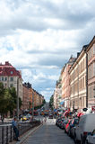 Street in Stockholm. One of the Stockholm streets, nice day Royalty Free Stock Image