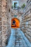 Street in stone stock photo