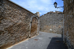 Street of stone houses Stock Photography