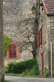 Street and stone houses of Chateauneuf Royalty Free Stock Images