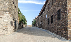 Street with stone houses Royalty Free Stock Photos