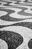 Street stones pattern waves, black and white. Street pattern stones in waves, abstract. Black and white photo stock photo