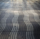 Street stones patterns. Wave Patterns on a street in Barcelona royalty free stock photos