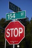 Street stop sign Royalty Free Stock Photography