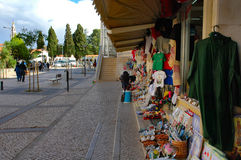 Street store. Street at Fatima - Portugal Stock Photography