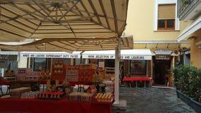 Sorento supermarket in Italy. Street store.groceries.quiet no crowd Stock Image