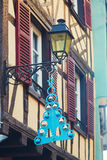 Street of Strasbourg beautifully decorated for Christmas Stock Photography