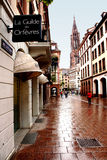 Street in Strasbourg. Royalty Free Stock Images