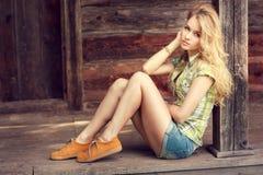 Street Style Fashion Girl Outdoors Royalty Free Stock Photo