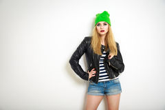 Street Style Hipster Girl. Summer Fashion. Stock Photography