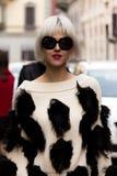 Street Style: Milan Fashion Week Autumn/Winter 2015-16 Stock Photography