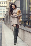 Street style portrait. Stylish girl. stock photography