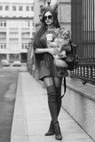 Street style portrait. Stylish girl. royalty free stock images