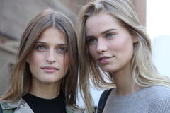 Street style,ralph lauren models,spring 2016 new york stock photos