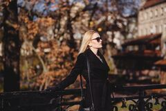 Street style shoot in park Stock Photography