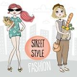 Street style vector illustration. vector illustration
