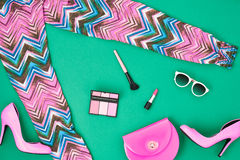 Free Street StyleFashion Girl Clothes Accessories Set Stock Photography - 71894222