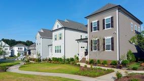 Street of suburban homes royalty free stock photos