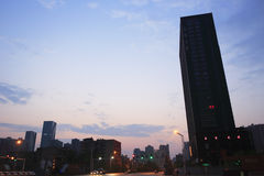 Street sunrise Stock Photography