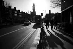 Street at sunset. Rathmines Royalty Free Stock Photo