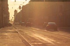 Street sunset Stock Photography