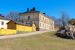 Street. Suomenlinna island, Finland Royalty Free Stock Photo