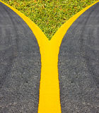 Street Surface street lines edge line Yellow Royalty Free Stock Photos