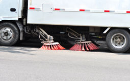 Street sweep truck Stock Image