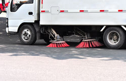 Street sweep truck Royalty Free Stock Photos