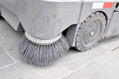 Street sweeper. Clean  street with brushes Royalty Free Stock Photos