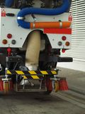 Street sweeper. Rear view of a Street sweeper Royalty Free Stock Photos