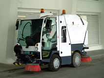 Street sweeper. Street sweeper ready for use Stock Photography
