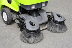 Street sweeper. Close up shot of street sweeper cleaner Stock Photos