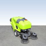 Street sweeper. Front view of green street sweeper cleaner Stock Image