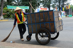 Street sweeper in asia. Stock Photography