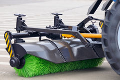 Street Sweeper Broom Stock Image