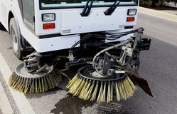 Street Sweeper. A street Sweeper with brushes Royalty Free Stock Image