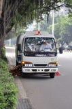 Street sweeper car Royalty Free Stock Photo